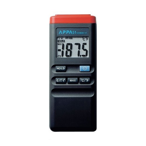 [APPA 51] K-type, -50°C~1300°C, LCD display(18.5mm), 디지털온도계(1ch)